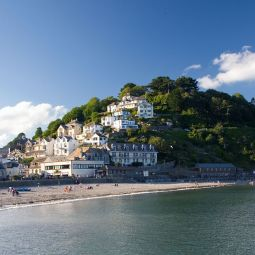 East Looe Beach and Hill