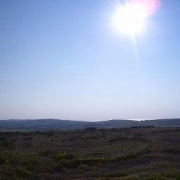 Evening sun on the moors