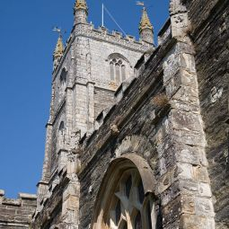 Fowey Church tower