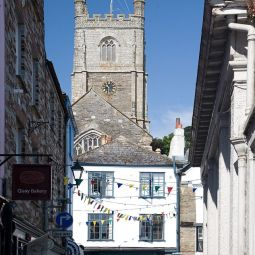 Fowey Church from Fore Street