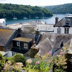 Fowey rooftops and river