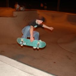 Frontside indy over the hip