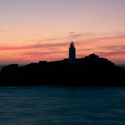 Godrevy Lighthouse After Sunset - Hayle