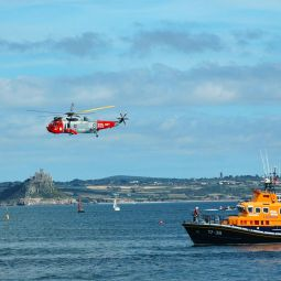 Penlee Lifeboat, Helicopter and St Michael's Mount