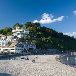 East Looe Beach and Mount Ararat
