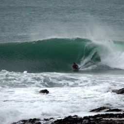 Bodyboarding at Low Tide Porthleven