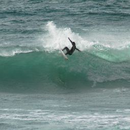 Mole Hitting the Lip at Porthleven