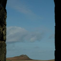 Moors through engine house arch