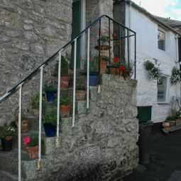 Flowers on Steps in Mousehole
