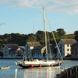 Yacht in Truro River