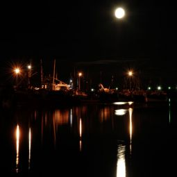 Newlyn Harbour - Full Moon