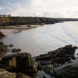 Lusty Glaze beach at low tide