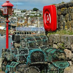 Crabpots on Newlyn Quay