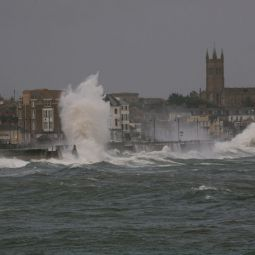 Penzance Promenade During Hurricane Gordon
