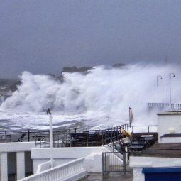 Penzance Promenade During October Storm