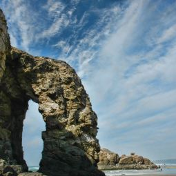 Rock Arch on Perranporth Beach