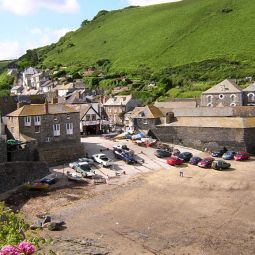 Port Isaac Harbour front, low tide