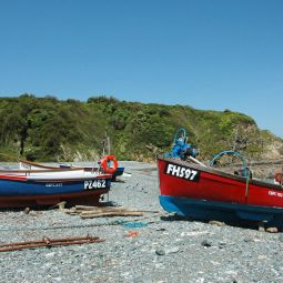 Boats on Porthallow Beach