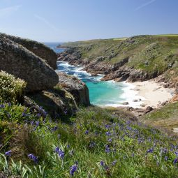 Porthchapel Beach in the Springtime