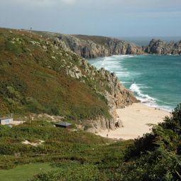Porthcurno Beach to Treen Cliffs