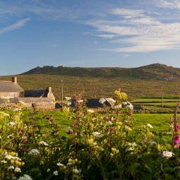 Porthmeor Farm and Carn Galva