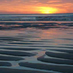 Porthmeor Sand Ripples at Sunset