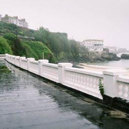 Portminster Beach in the Rain