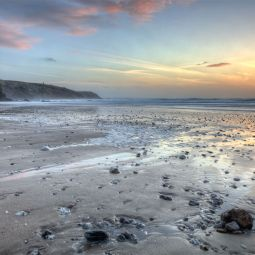 Porthtowan Beach - Winter Sunset
