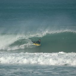Bodyboarder Pulls in at Porthtowan