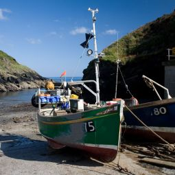 Portloe Harbour and Fishing Boats