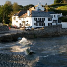 Portmellon - Beach, slipway and pub