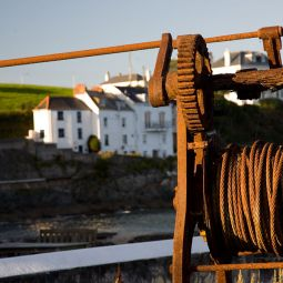 Rusty old winch - Portmellon