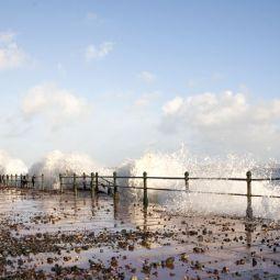 Wave Breaking over Penzance Promenade
