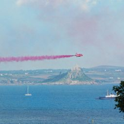 Red Arrow Over St Michael's Mount