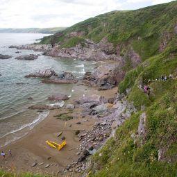 Sharrow Beach and Cliffs