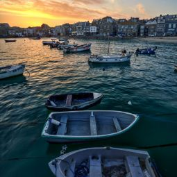 St Ives Harbour - Spring sunset