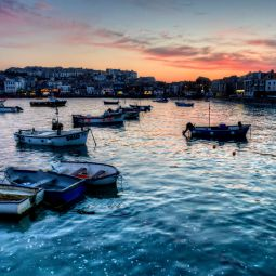 St Ives Harbour sunset