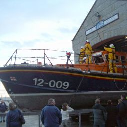 Launching the St Ives Lifeboat