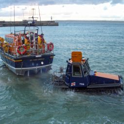 Launching the St Ives Lifeboat 3