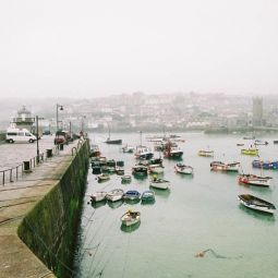 St Ives Harbour on a Foggy Day