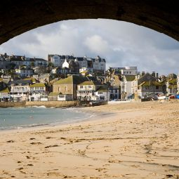 St Ives through the arches