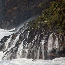 Storm cliff waterfall
