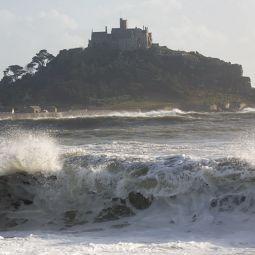 Stormy Marazion Sea
