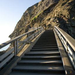 Steps to Tintagel Island