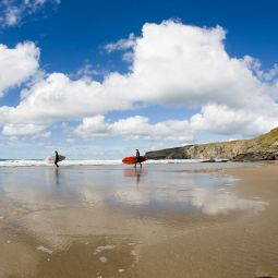 Trebarwith Strand Surfers