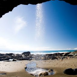 View from the cave - Tregardock Beach