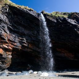 Tregardock Beach Waterfall