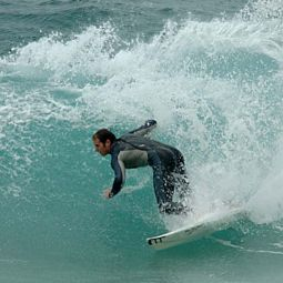 Chucking Some Spray at Sennen