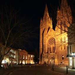 Truro Cathedral by Night