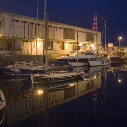 Penzance wet dock reflections